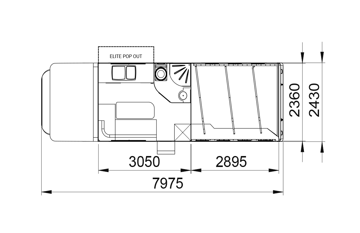 Endeavour 3/4 stall layout