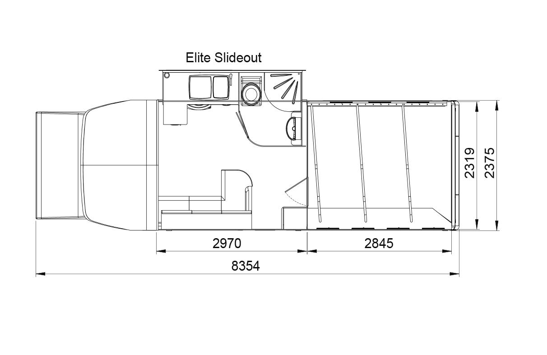 Evolution 3/4 stall layout