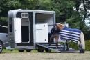 horse going into trailer